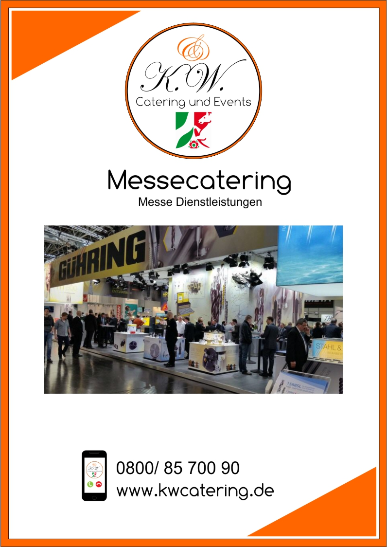 Messecatering Prospekt K.W. Catering & Events Düsseldorf